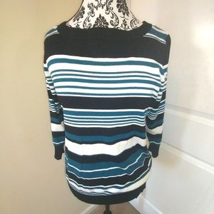 Womens Joseph A. Top size XL 3/4 Sleeve Career